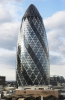Reception at the Gherkin